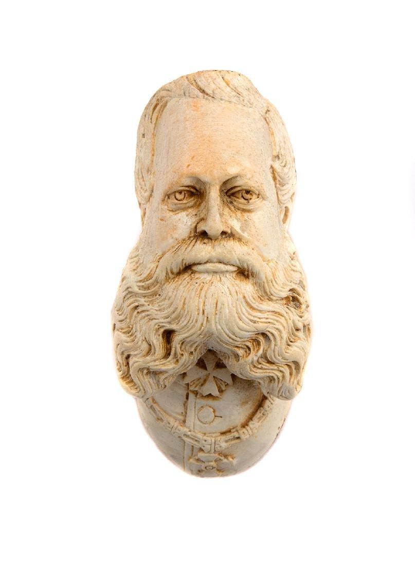 LIMESTONE PIPE, FREDERICK III OF PRUSSIA, CA. 1880 - 3