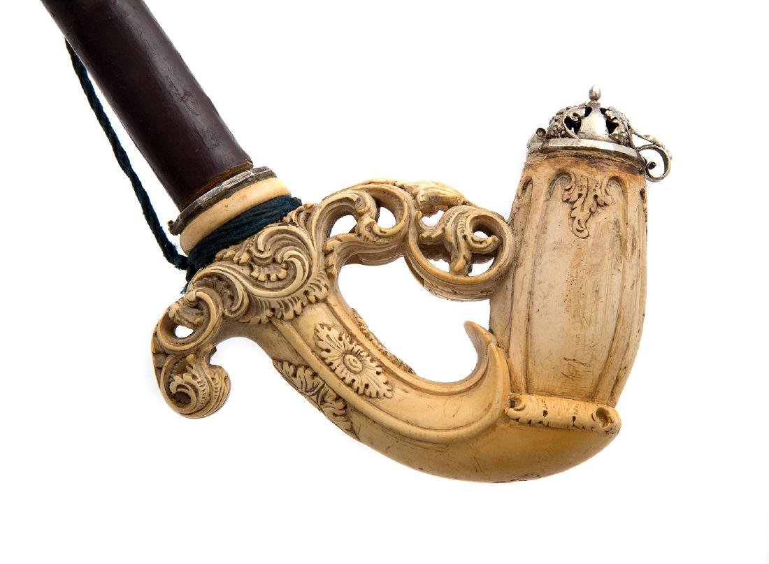 FINELY CARVED MEERSCHAUM PIPE, GERMANY - 3
