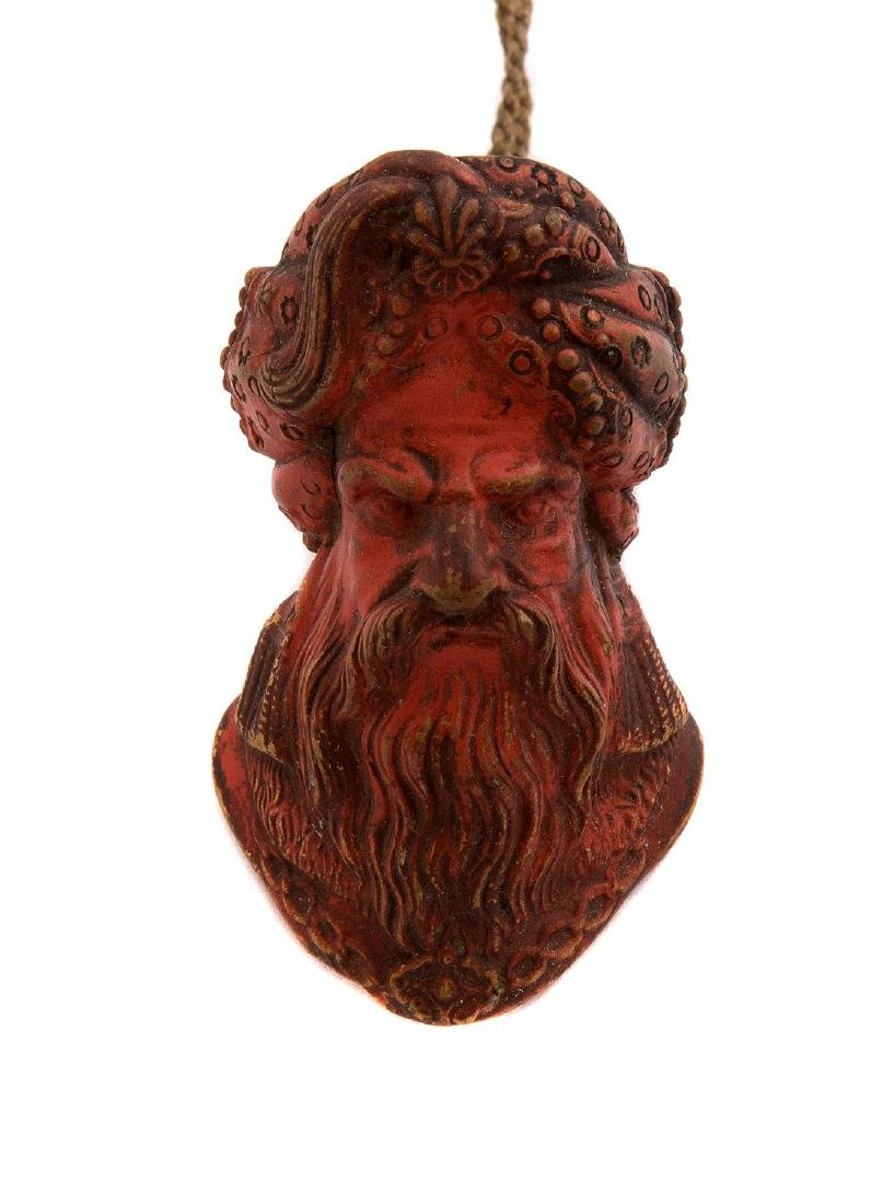 CERAMIC DYED PIPE HEAD COVERED TURKISH HEAD, CA. 1800