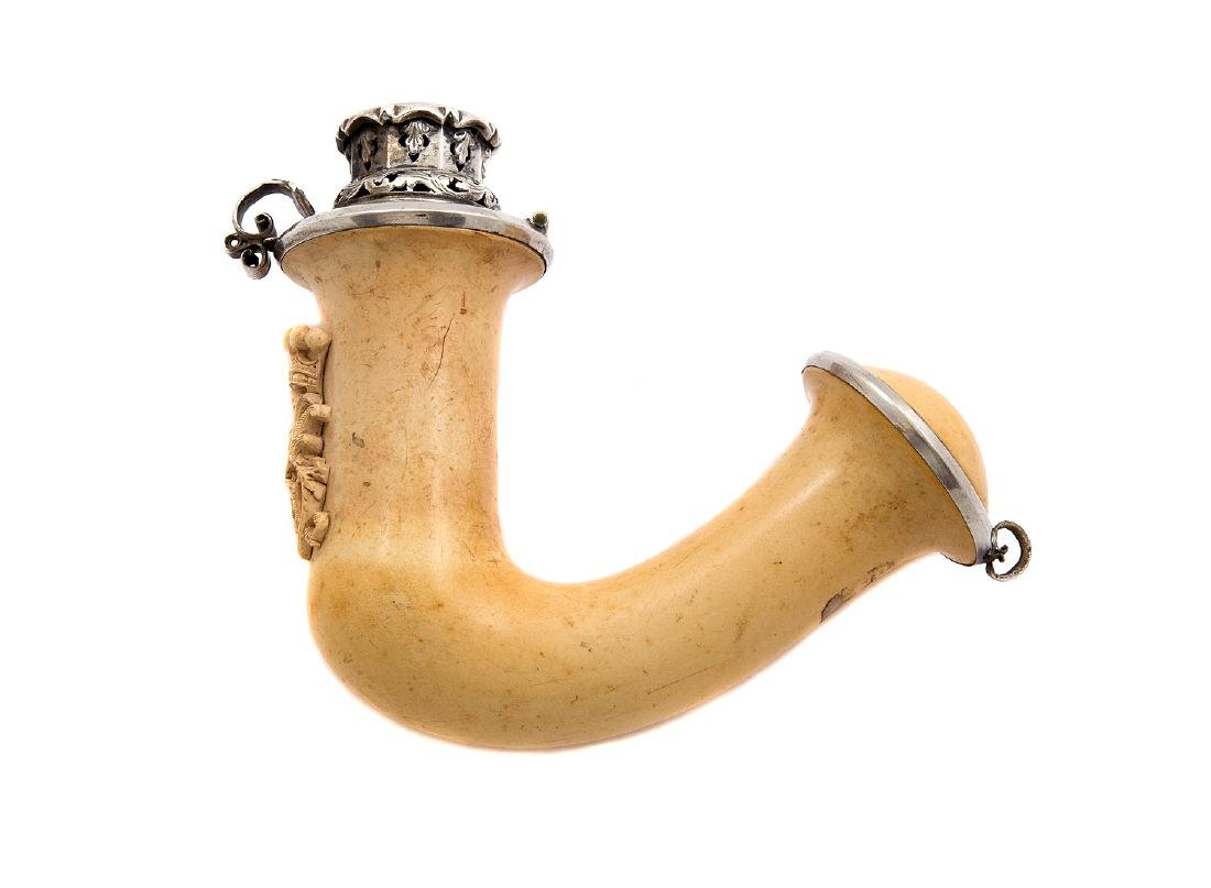 AUSTRIAN MEERSCHAUM PIPE BOWL WITH INITIALS, CA. 1870