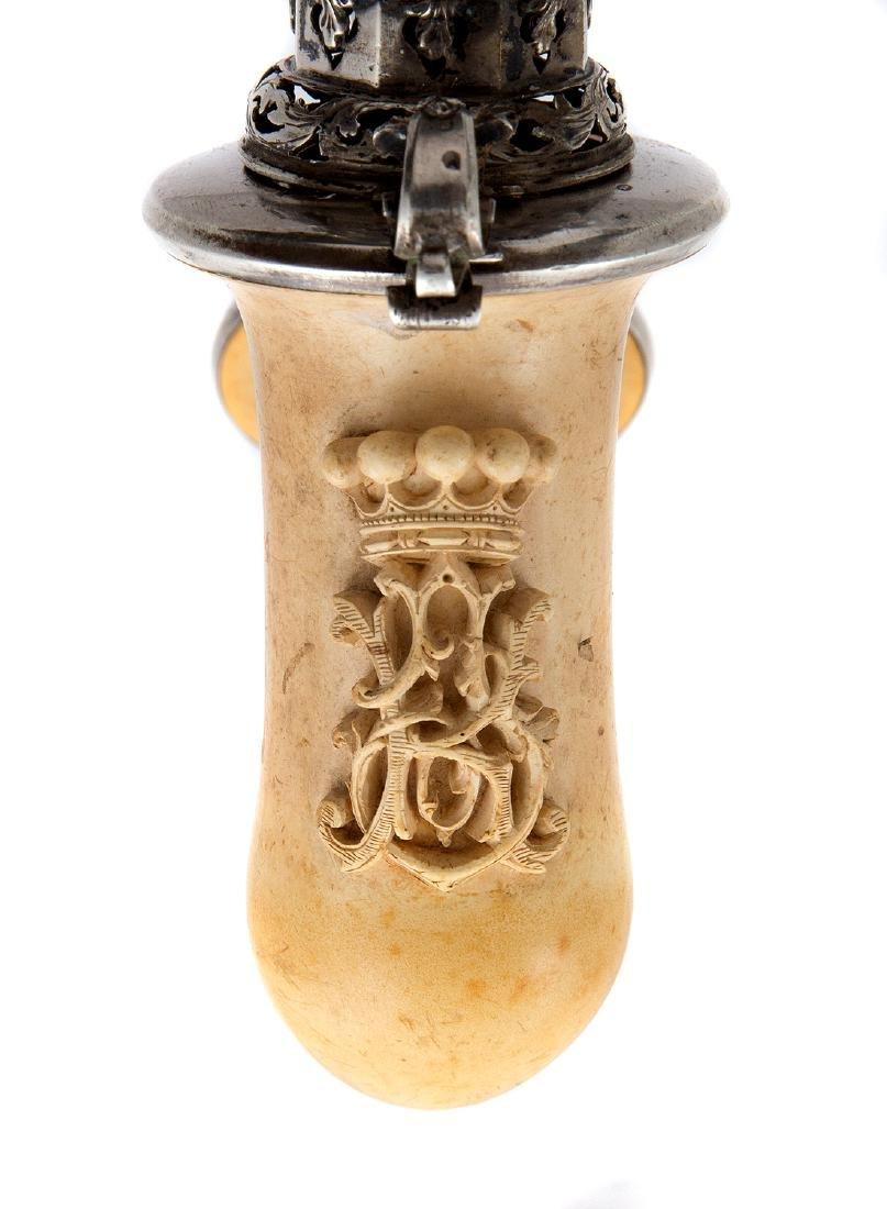 AUSTRIAN MEERSCHAUM PIPE BOWL WITH INITIALS, CA. 1870 - 4