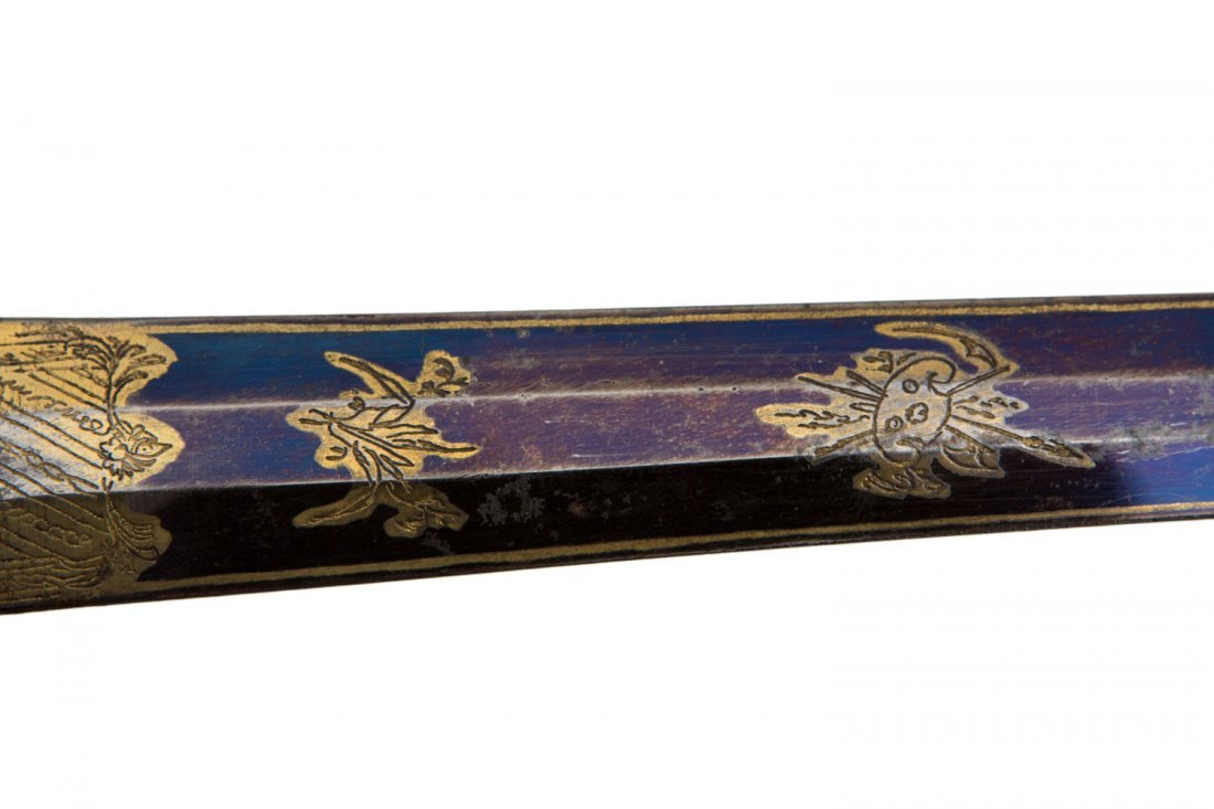 EUROPEAN GILT NAVAL OFFICER'S DIRK, 19TH C. - 10
