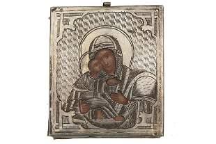 RUSSIAN ICON MOTHER OF GOD VLADIMIRSKAYA