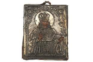 RUSSIAN ICON ST FEODOSY CHERNIGOVSKY 19TH C