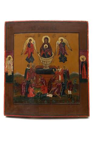 RUSSIAN ICON MOTHER OF GOD LIFE GIVING SPRING