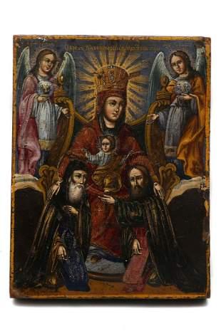 RUSSIAN ICON MOTHER OF GOD KIEV PECHERSKAYA