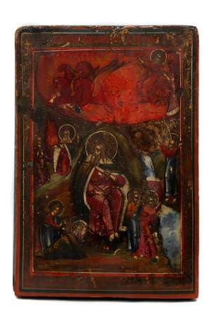 RUSSIAN ICON FIERY ASCENT OF THE PROPHET ELIJAH