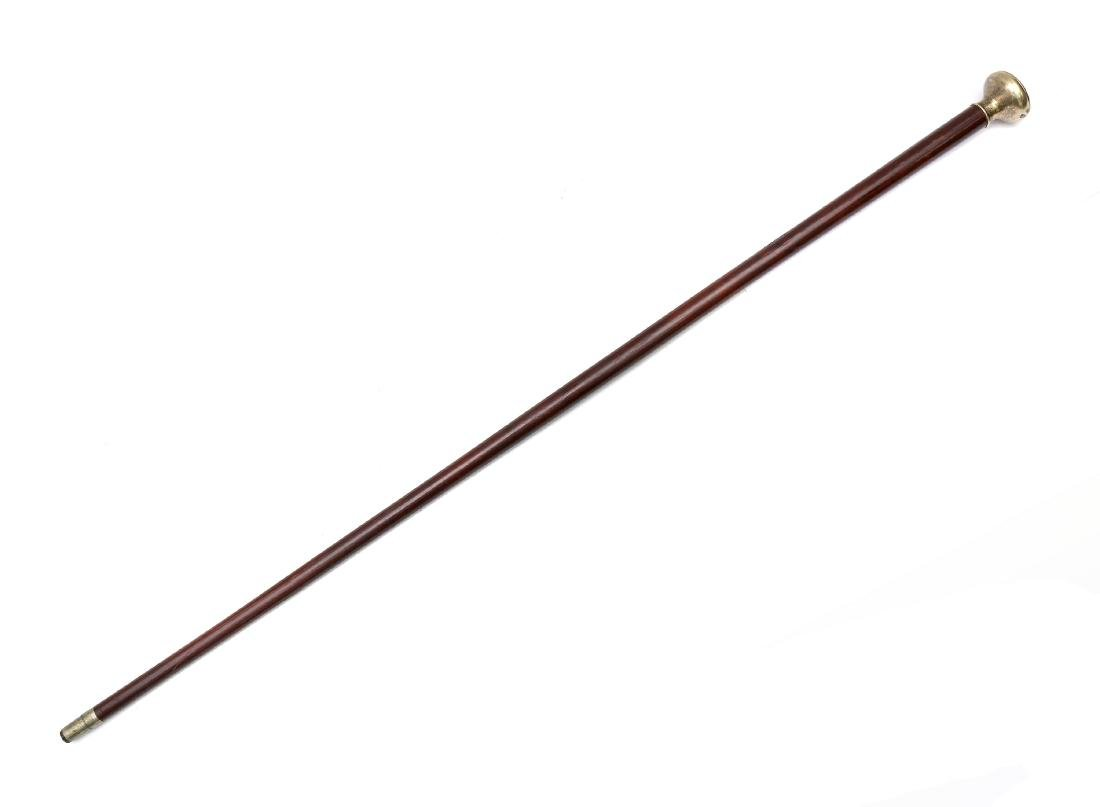 TIFFANY GILT SILVER CANE
