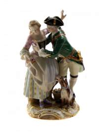 MEISSEN PORCELAIN FIGURINE GROUP, GERMANY 19TH C.