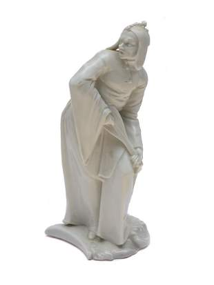 NYMPHENBURG PORCELAIN FIGURE OF BOY WITH A LUTE