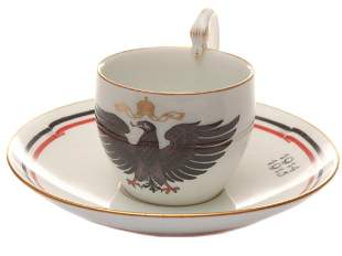 MEISEEN WWI CUP AND SAUCER 1914 1915