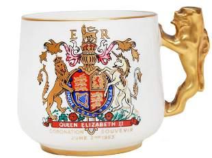 COMMEMORATIVE HM QUEEN CORONATION ENGLISH CUP 53