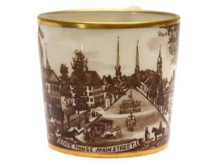 LENOX HISTORICAL CHINA HAND PAINTED CUP 1933