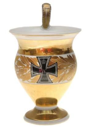 KPM GILD CUP WITH GERMAN CROSS 1914