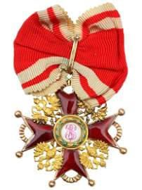 GOLD RUSSIAN ORDER OF ST. STANISLAUS III CLASS
