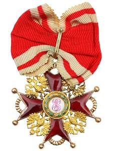 GOLD RUSSIAN ORDER OF ST. STANISLAUS III CLASS