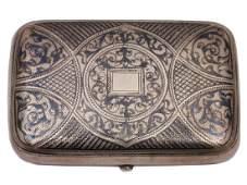 RUSSIAN SILVER GILT BOX NIELLO SNUFF BOX 1893