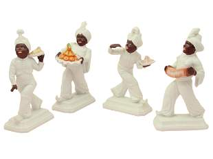 FOUR PORCELAIN ARAB FIGURINES BY ROSENTHAL