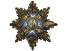 A SERBIAN ORDER: ST. SAVA GRAND CROSS BREAST STAR