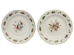 TWO RUSSIAN PORCELAIN PLATES BY GARDNER 1850