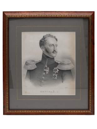 RUSSIAN LITHOGRAPH OF NICHOLAS I