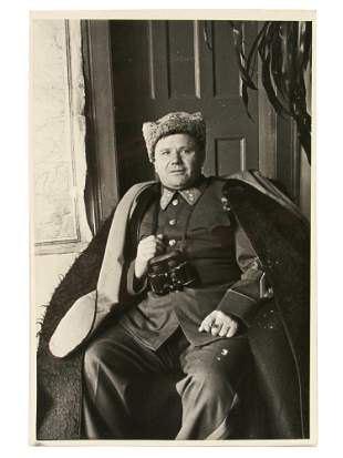 A PHOTO OF SOVIET COLONELGENERAL I LUDNIKOV