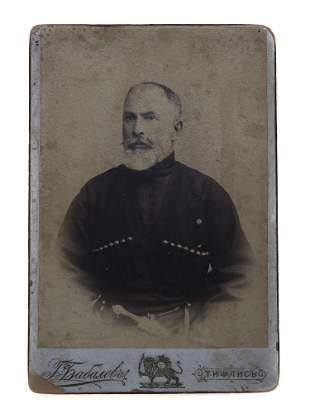 RUSSIAN CAUCASIAN GEORGIAN MAN WITH DAGGER 1915