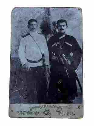 RUSSIAN CAUCASIAN GEORGIAN MEN WITH SHASHKA SWORD