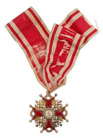 A RUSSIAN GOLD ORDER OF ST. STANISLAUS 2 CLASS