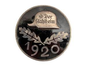 A GERMAN ARMY 1920 DER STAHLHELM BADGE - LARGE