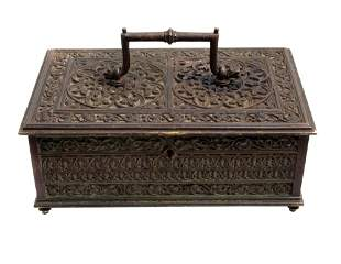 AN ANTIQUE FRENCH STRONG BOX 19TH CEN