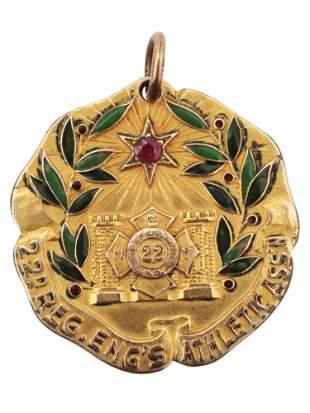 A VINTAGE GOLD DIEGES & CLUST SPORT MEDAL, NY