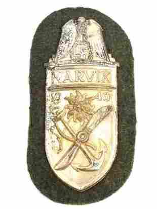 A GERMAN WW2 NARVIK SHIELD, MOUNTAIN TROOPS