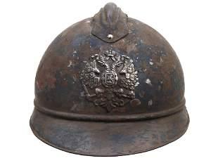 A RARE IMPERIAL RUSSIAN ARMY ADRIAN HELMET