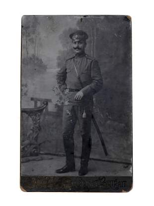 A RUSSIAN IMPERIAL ARMY OFFICER WITH SWORD PHOTO