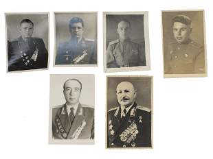 A SET OF 6 SOVIET RUSSIAN MILITARY PHOTOGRAPH'S
