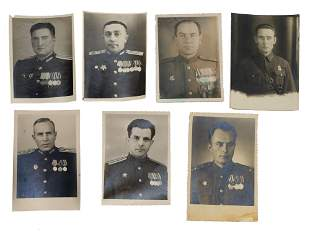 A SET OF 7 SOVIET RUSSIAN MILITARY PHOTOGRAPH'S