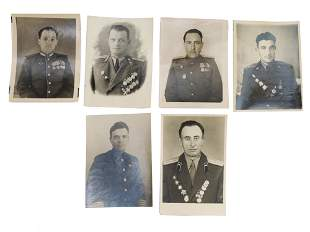 A SET OF 6 SOVIET ARMY OFFICERS PHOTOGRAPHS