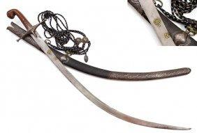Fine 18th Century Turkish Silver Shamshir Sword