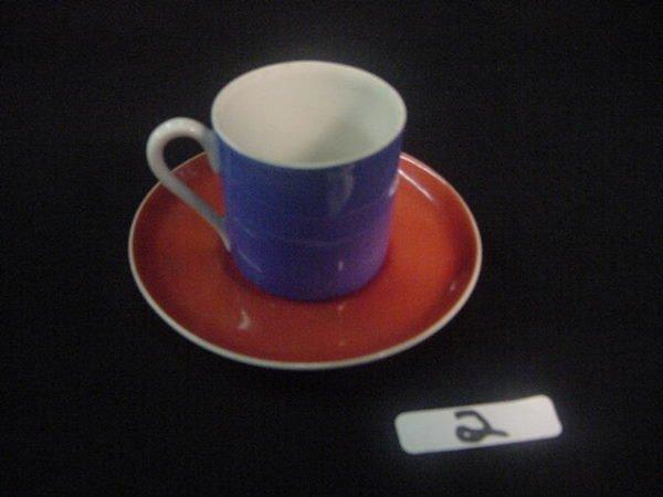 2: CZECH FINE PORCELAIN DEMITASSE CUP & SAUCER SET