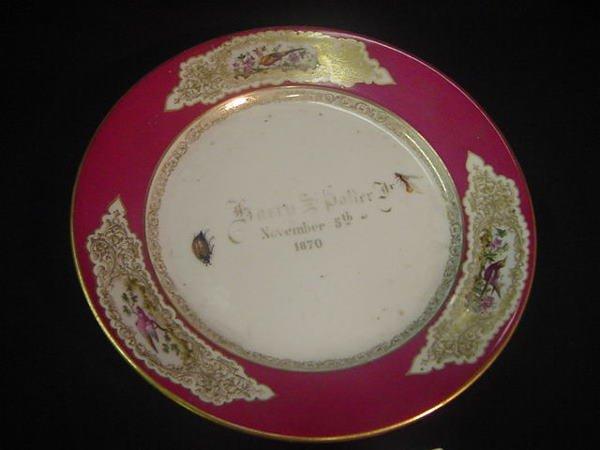 5: Harry S. Potter commerative porcelain dish 1870