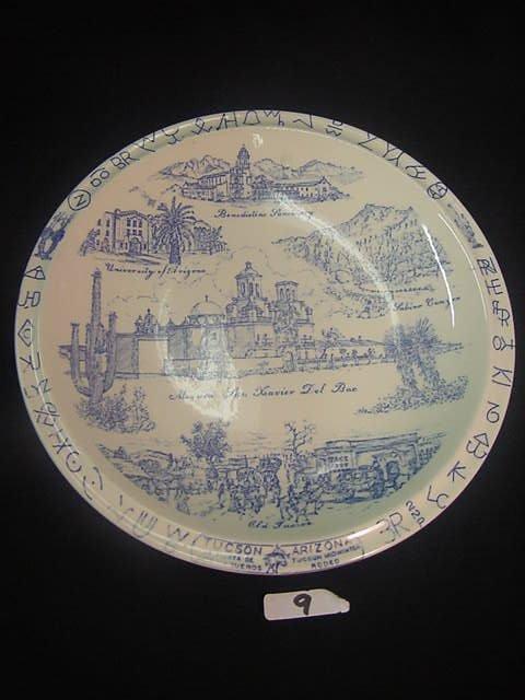 9: Vintage Tucson Souvenir Plate Vernon Kilns