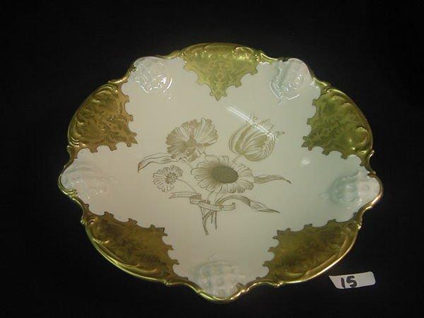 15: Gorgeous gilded Rosenthal porcelain pedistal bowl
