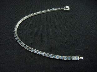 DIAMONBAR RHINESTONE BRACELET w/STERLING CLASP