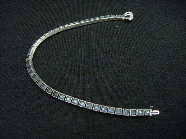 381: DIAMONBAR RHINESTONE BRACELET w/STERLING CLASP