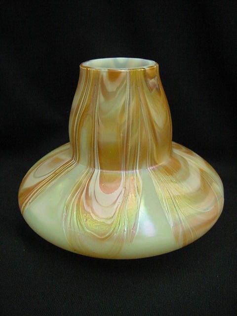 392: UNUSUAL ART GLASS VASE