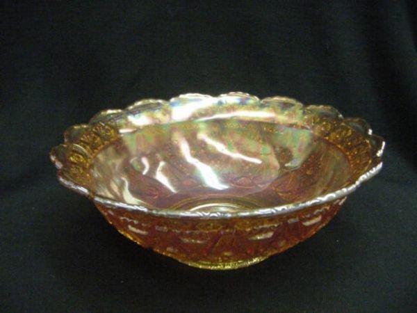 398: CARNIVAL GLASS BOWL