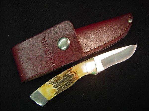 562: BEAR MGC KNIFE USA STAG HANDLE, SHEATH