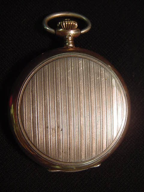 589: Primula pocket watch.  800 silver with a pin strip