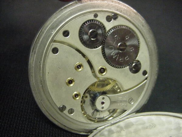 589: Primula pocket watch.  800 silver with a pin strip - 4